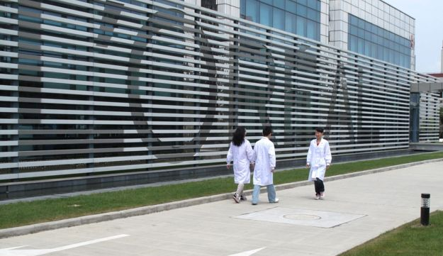 A L'Oreal research facility in Shanghai, China.