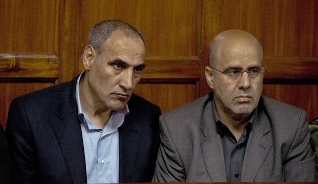 Sayed Mansour Mousavi, (L) and Ahmad Abolfathi Mohammed appear in high court in Nairobi. July 23rd,