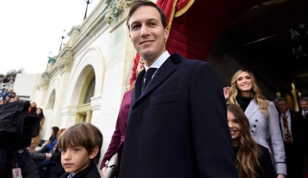 Jared Kushner, Donald Trump's senior adviser and son-in-law, arrives at the U.S. Capitol in Washington, D.C. for the inauguration, January 20, 2017.