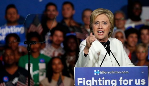 Hillary Clinton speaks at a rally during a campaign event on Super Tuesday in Miami on March 1, 2016.