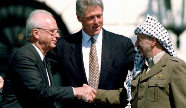 Clinton Rabin Arafat White House 1993