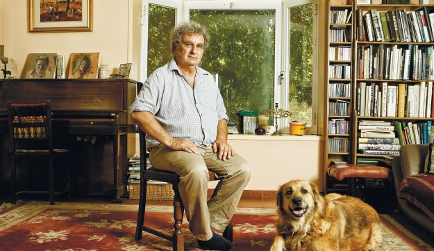 Benny Morris at his home in the Elah Valley