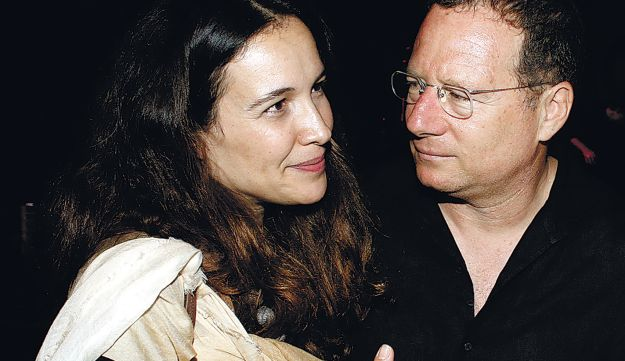 Abecassis with her husband, Roni Duek