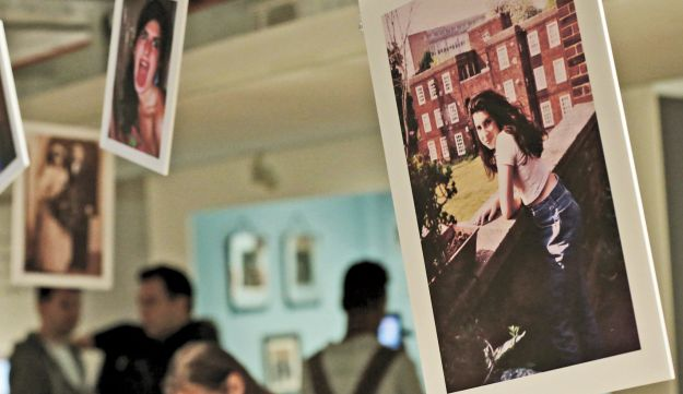 Photographs of Amy Winehouse at an exhibition in London.