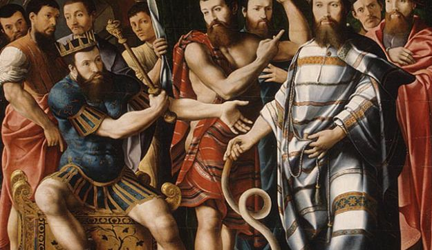 """Moses and Aaron before Pharaoh"" by François II de Dinteville (1537)."