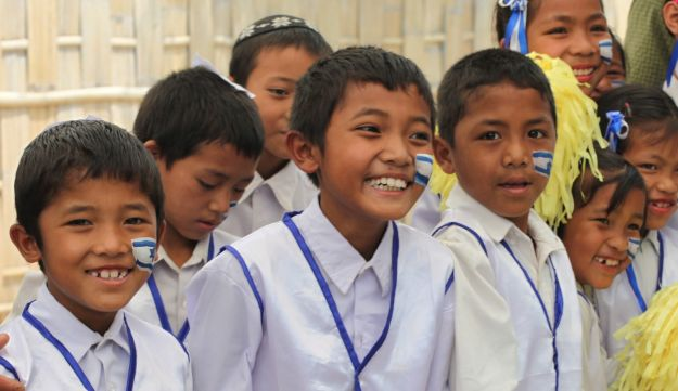 Bnei Menashe children celebrating Yom Haatzmaut in Manipur, India