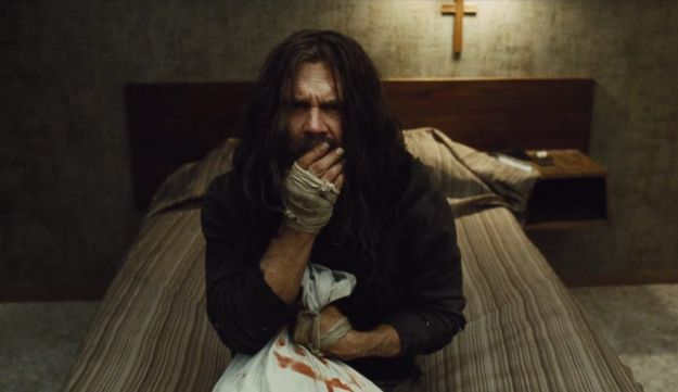 A still image from the American version of the film 'Oldboy.'