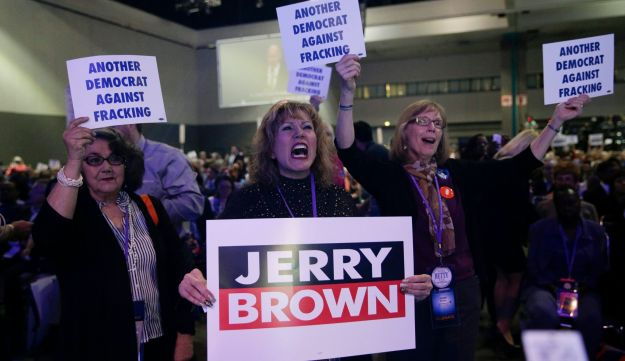 Jerry Brown supports fracking.