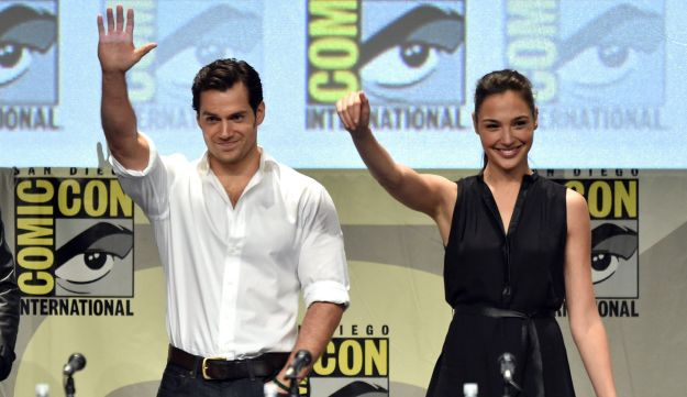 Actors Henry Cavill and Gal Gadot attend the Comic-Con