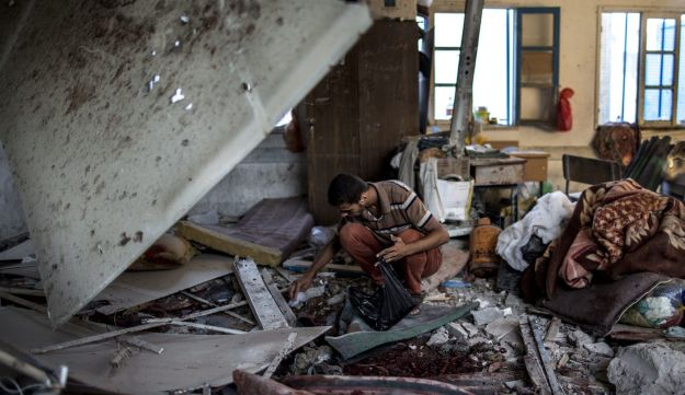 At the UNRWA-operated Abu Haseen school in northern Gaza during the 2014 war between Hamas and its allies and Israel, July 30, 2014.