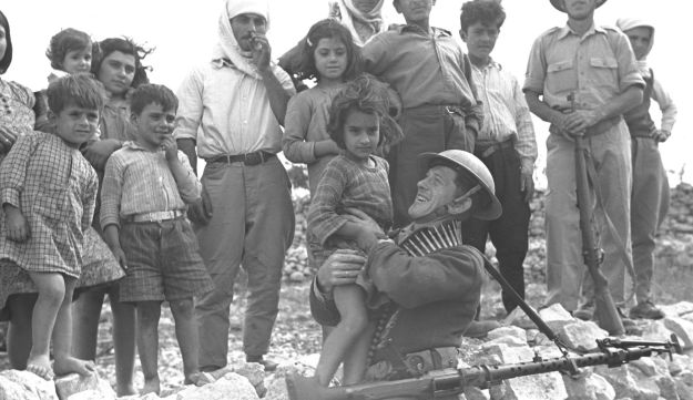 Israeli soldier at Ikrit in 1948