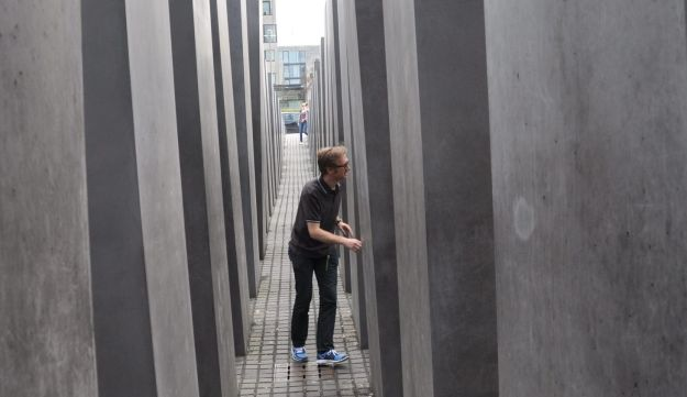 The Holocaust Memorial in central Berlin.