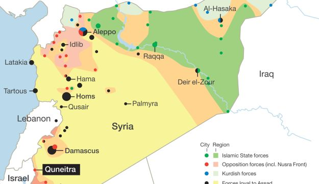 A map of Syria.