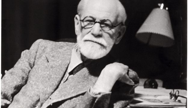 Sigmund Freud is pictured in his working room in 1938.