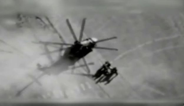 A screenshot from the IDF video