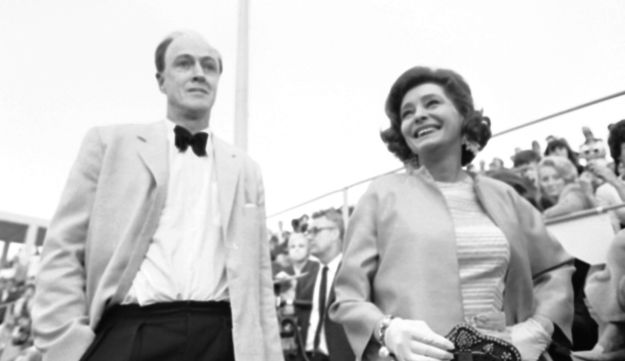 Roald Dahl with his wife Patricia Neal
