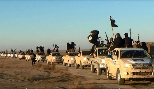 Islamic State fighters in Iraq's Anbar Province.