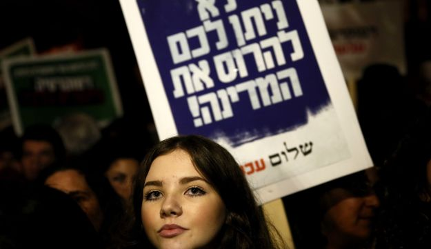 """Hundreds of Israelis demonstrate against  """"Jewish nation-state"""" bill"""