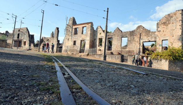 The martyr village of Oradour-sur-Glane, central France, where 642 citizens including 500 women and