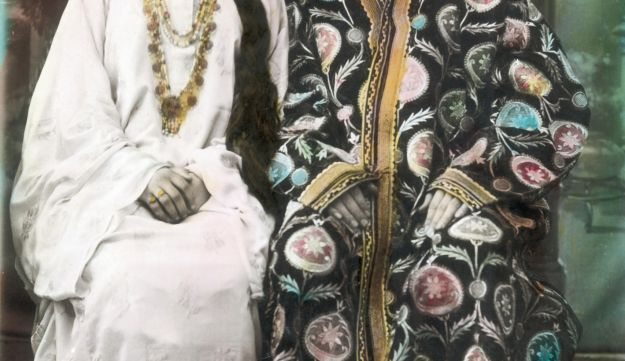 A Bukharan couple, from the exhibition 'Threads of Silk' at Beit Hafutsot