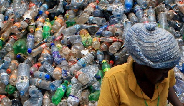 A plastic dumping site in Kampala, Uganda. How much of this is winding up in the water? We don't know, but, probably, a lot.