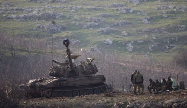 IDF forces in the Golan Heights, January 28, 2015.