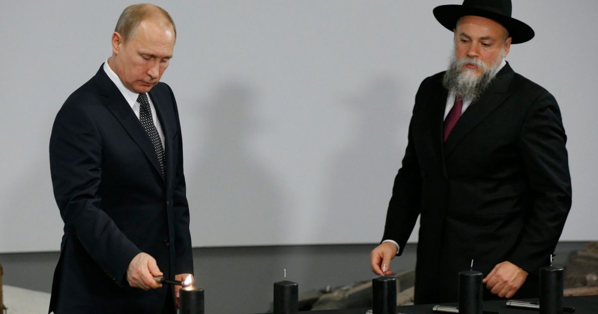 Senior Russian rabbi says Putin's ouster would endanger Jews