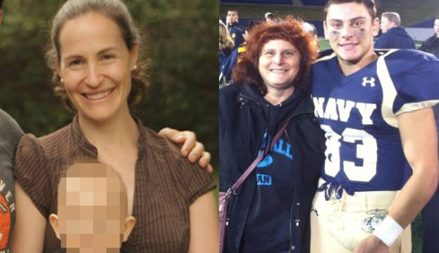 Rachel Jacobs, left, with her 2-year-old son, and Justin Zemser with his mother, Susan.