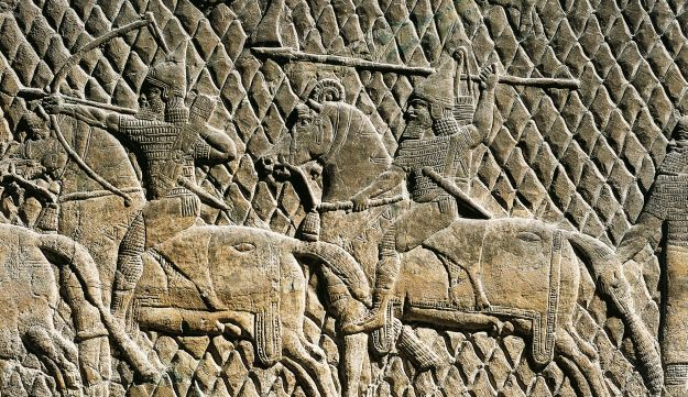 A bas relief from ancient Nineveh: De Agostini / Getty Images