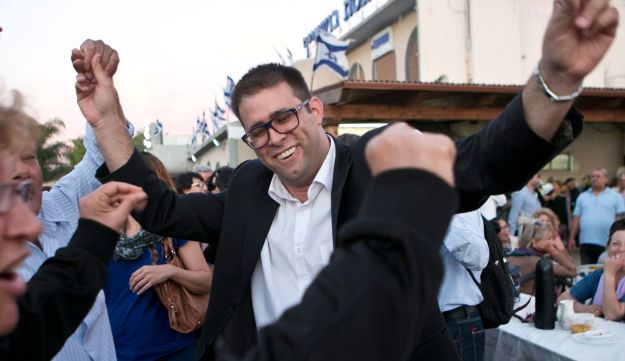 Oren Hazan at a party from time before he was a politician.