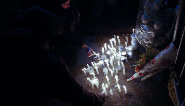 Memorial for children killed in Brooklyn, March 22, 2015