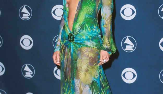 Jennifer Lopez at the 42nd Grammys in Los Angeles, California, 2000.
