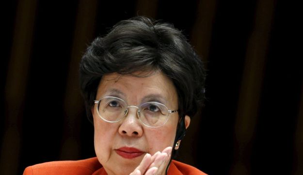 WHO Director-General Margaret Chan attends the WHO Executive Board meeting in Geneva, Switzerland, January 25, 2016.
