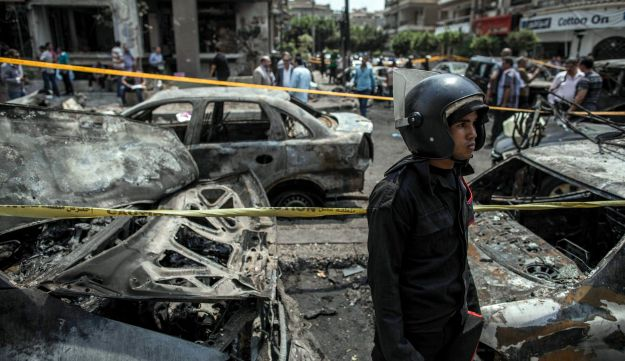 Site of a bombing that killed Egypt's top prosecutor in Cairo, Egypt. June, 29, 2015.