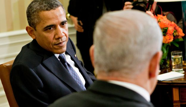 Obama meets Netanyahu in the Oval Office of the White House, 2012.