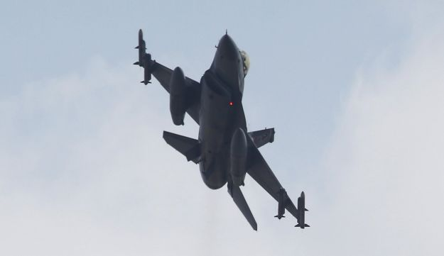 A Turkish F-16 fighter jet takes off from Incirlik airbase in the southern city of Adana, Turkey, in this July 27, 2015 file picture.