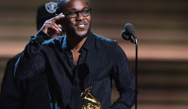 Kendrick Lamar receives the award for the Best Rap Album, To Pimp A Butterfly at 58th Annual Grammy Awards in Los Angeles February 15, 2016.