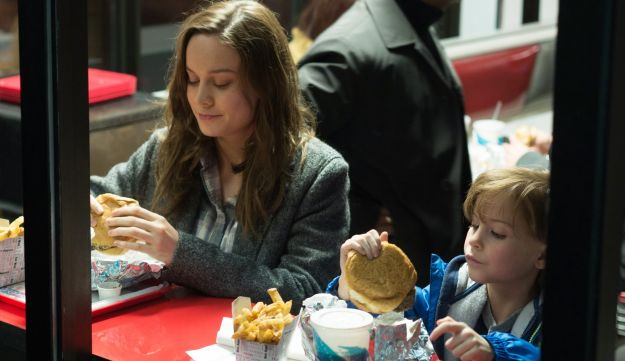 "Bree Larson, left, and Jacob Tremblay appear in a scene from the film, ""Room."""