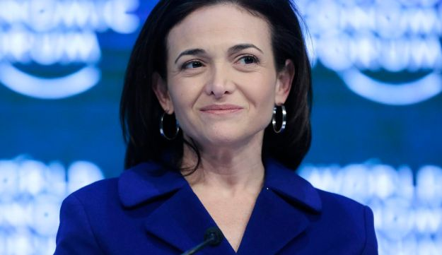 Sheryl Sandberg looks on during a panel session at the World Economic Forum in Davos, Switzerland, January 22, 2016.