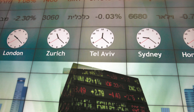 The Tel Aviv Stock Exchange (TASE).