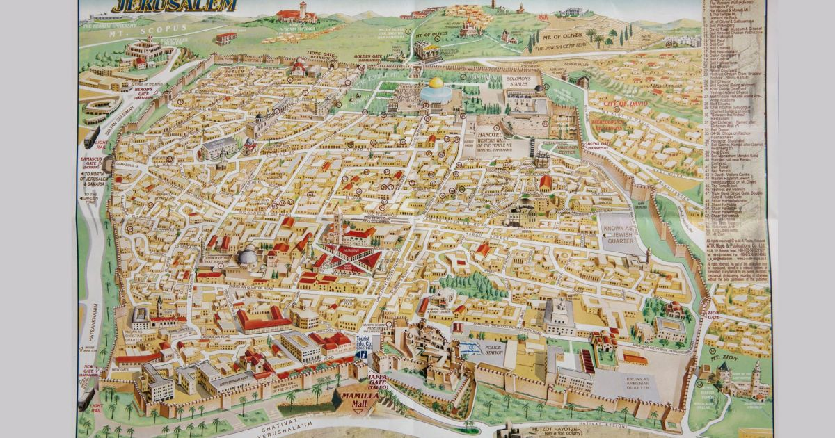 Map Of The Old City Of Jerusalem Official map of Jerusalem's Old City omits key non Jewish sites