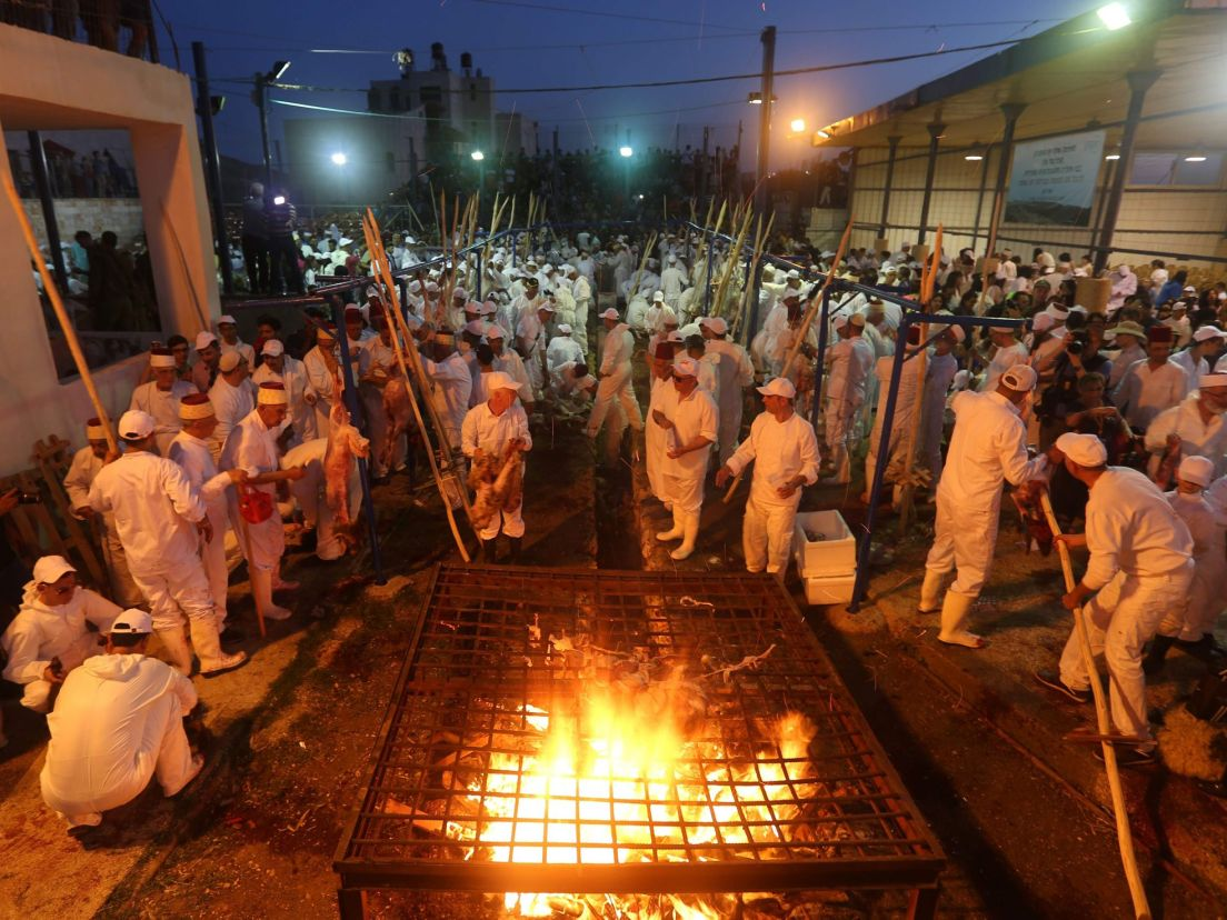 Samaritan Passover Marked by Slaughter of the Lambs