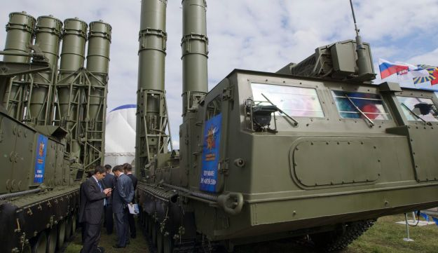 File photo: The S-300 missile system outside Moscow.