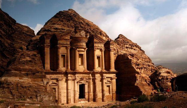 Ancient structures in Jordan's Petra photographed in February 2016.