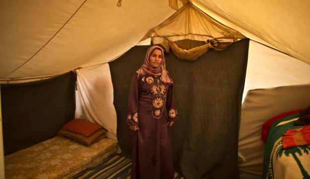 Khalida Moussa, 28,  while being pregnant, March 16, 2015.