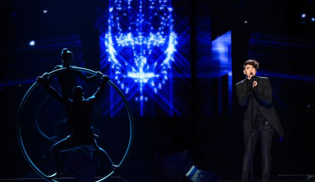 Israel's Hovi Star performs the song 'Made Of Stars' during the second Eurovision Song Contest semifinal in Stockholm, Sweden, Thursday, May 12, 2016.