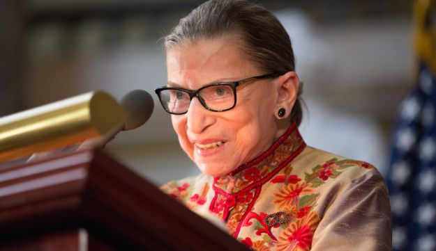 U.S. Supreme Court Justice Ruth Bader Ginsburg speaking at an annual Women's History Month reception