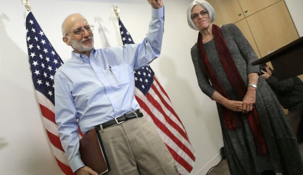 Alan Gross the day he was freed from a Cuban prison, Dec. 17 2014.