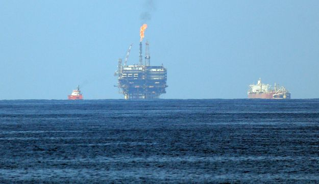 Eni's Bouri Offshore oil terminal is seen off the Libyan coast, in the Mediterranean sea, Tuesday, A