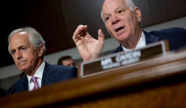 Senator Ben Cardin, a Democrat from Maryland, at Senate Foreign Relations Committee hearing with on